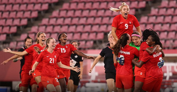 Canada defeating the United States 1-0 Women Football